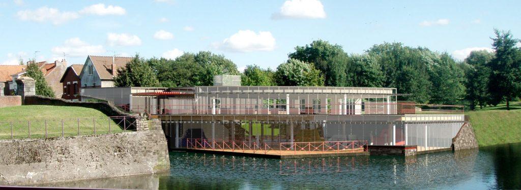 Construction d'une médiathèque à Condé-sur-Escaut (59)