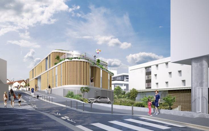 Construction neuve d'une crèche, d'une pharmacie et d'un parking – Fontenay-sous-Bois 94